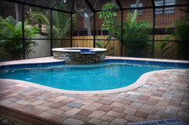 Residential Pool and Spa with Screen Enclosure